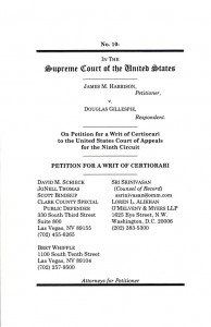 Supreme Court of the U.S. Writ of Certiorari Harrison v. Gillespie