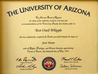 University of Arizona Law Degree