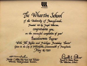 Wharton Baccalaureate