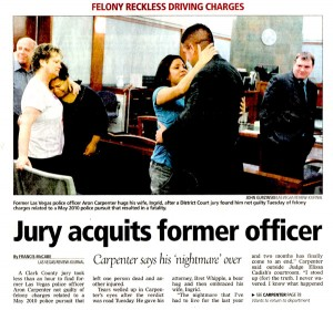 Officer Carpenter acqutted - July 20, 2011