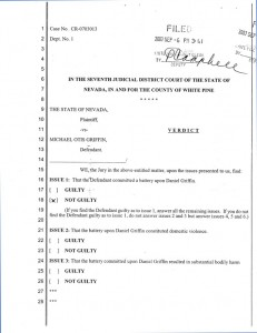 State of Nevada v. Michael Otis Griffin - Acquittal