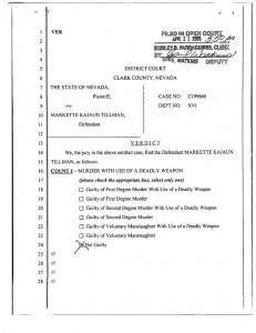 State of Nevada v. Markette Kajaun Tillman - Acquittal
